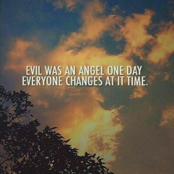 عکس پروفایل انگلیسی شیطان هم روزی فرشته بودهمه به وقتش عوض میشن