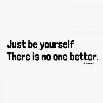 عکس پروفایل انگلیسی خودت باش چون کسی بهتر از تو نیست