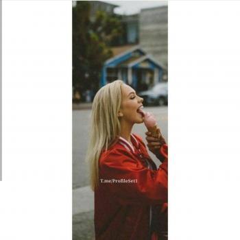 عکس پروفایل ست دختر با بستنی