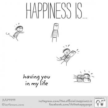 عکس پروفایل انگلیسی Happiness is having you in my life