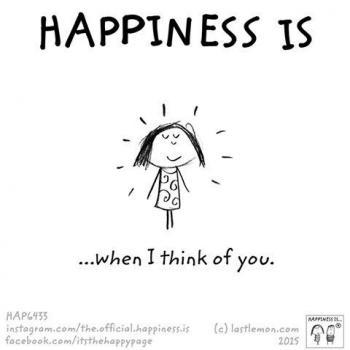 عکس پروفایل انگلیسی Happiness is when I think of you
