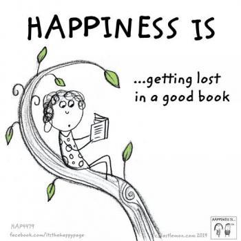 عکس پروفایل انگلیسی Happiness is getting lost in a good book