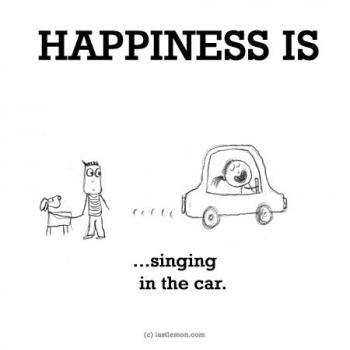 عکس پروفایل انگلیسی Happiness is singing in the car