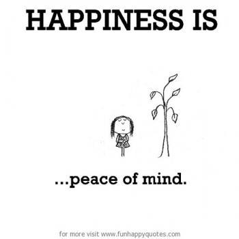 عکس پروفایل انگلیسی Happiness is peace of mind