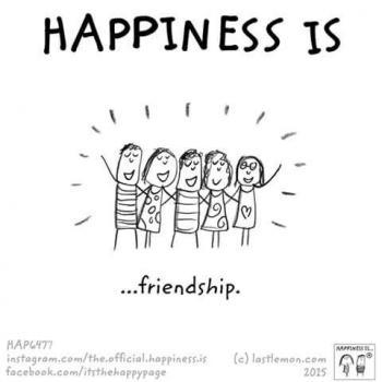 عکس پروفایل انگلیسی Happiness is friendship