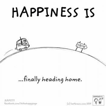 عکس پروفایل انگلیسی Happiness is finally heading home