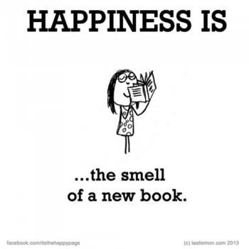 عکس پروفایل انگلیسی Happiness is the smell of a new book