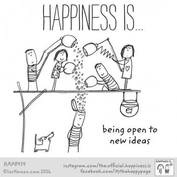 عکس پروفایل انگلیسی Happiness is being open to new ideas
