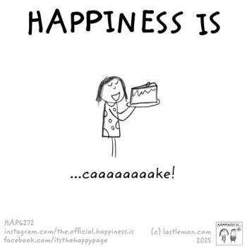 عکس پروفایل انگلیسی Happiness is cake