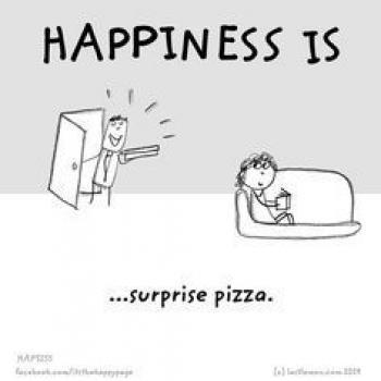 عکس پروفایل انگلیسی Happiness is surprise pizza