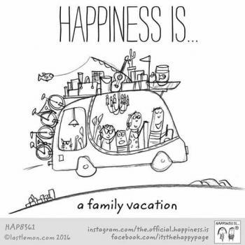 عکس پروفایل انگلیسی Happiness is a family vacation