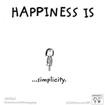 عکس پروفایل انگلیسی Happiness is simplicity