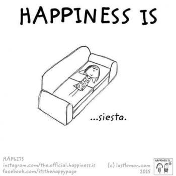 عکس پروفایل انگلیسی Happiness is siesta