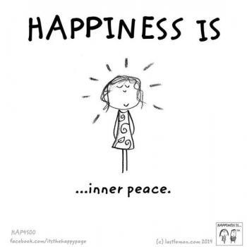 عکس پروفایل انگلیسی Happiness is inner peace
