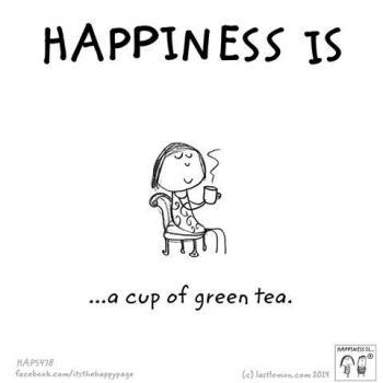 عکس پروفایل انگلیسی Happiness is a cup of green tea