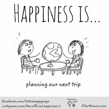 عکس پروفایل انگلیسی Happiness is planning our next trip