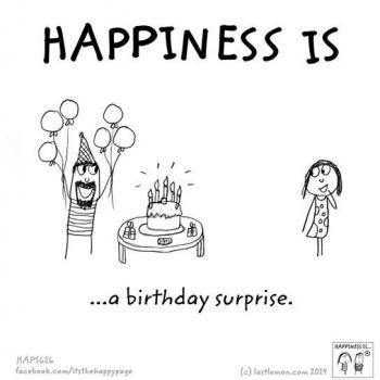 عکس پروفایل انگلیسی Happiness is a birthday surprise