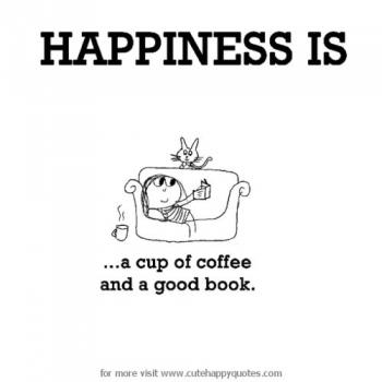 عکس پروفایل انگلیسی Happiness is a cup of coffee and a good book
