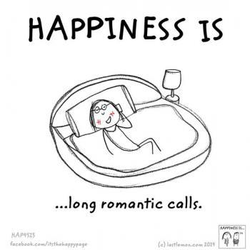 عکس پروفایل انگلیسی Happiness is long romantic calls