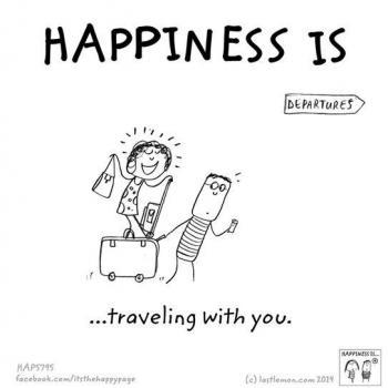 عکس پروفایل انگلیسی Happiness is traveling with you