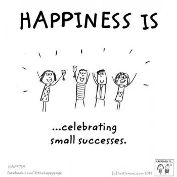 عکس پروفایل انگلیسی Happiness is celebrating small successes