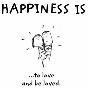 عکس پروفایل انگلیسی Happiness is to love and be loved