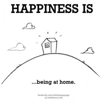 عکس پروفایل انگلیسی Happiness is being at home