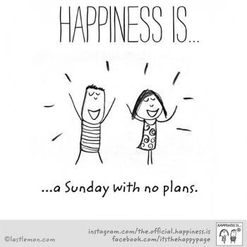 عکس پروفایل انگلیسی Happiness is a Sunday with no plans