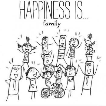 عکس پروفایل انگلیسی Happiness is family