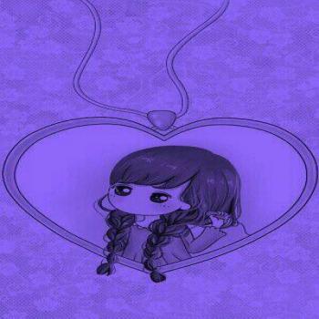 عکس پروفایل ست کارتونی دختر در قلب