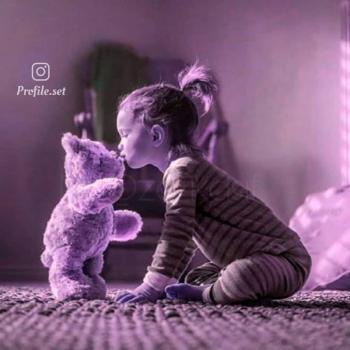 عکس پروفایل ست کودکانه دختر با خرس
