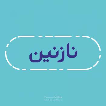 عکس پروفایل اسم نازنین طرح آبی روشن