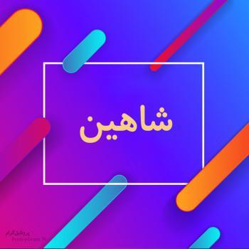 عکس پروفایل اسم شاهین طرح رنگارنگ