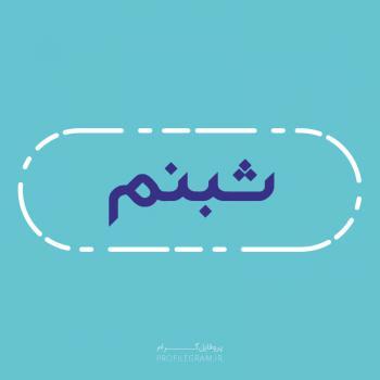 عکس پروفایل اسم شبنم طرح آبی روشن