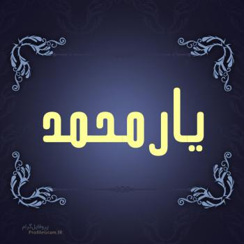 عکس پروفایل اسم یارمحمد طرح سرمه ای