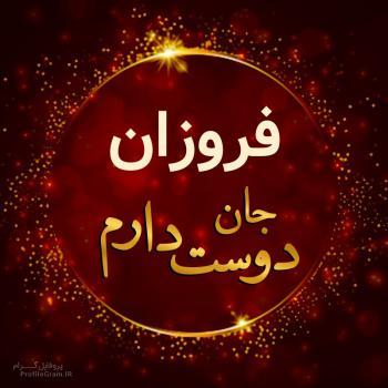 عکس پروفایل فروزان جان دوست دارم
