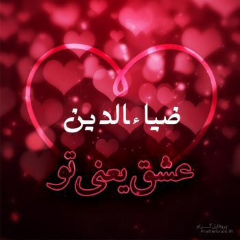 عکس پروفایل ضیاءالدین عشق یعنی تو