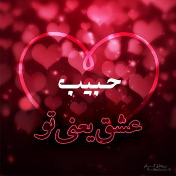 عکس پروفایل حبیب عشق یعنی تو