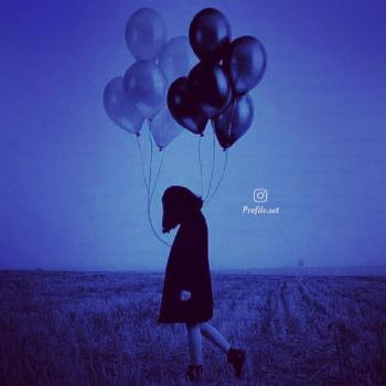 عکس پروفایل ست دختر با بادکنک در آسمان