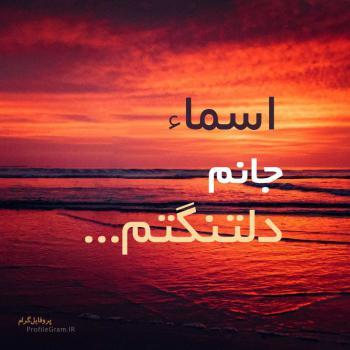 عکس پروفایل اسماء جانم دلتنگتم