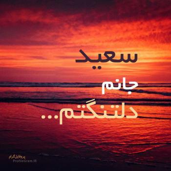 عکس پروفایل سعید جانم دلتنگتم