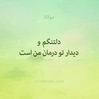 عکس پروفایل حافظ دلتنگم و دیدار تو درمان من است