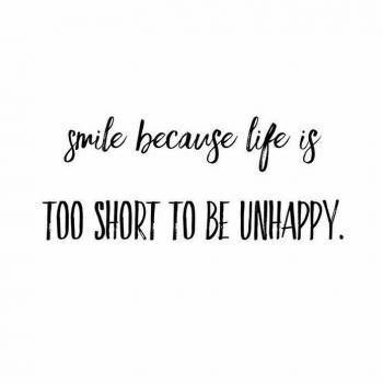 عکس پروفایل لبخنـد بزن چون زندگی خیلی کوتاهه