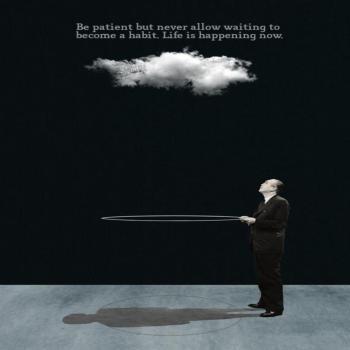 عکس پروفایل انگلیسی صبور باش ولی هیچوقت اجازه نده منتظر بودن برات یه عادت بشه