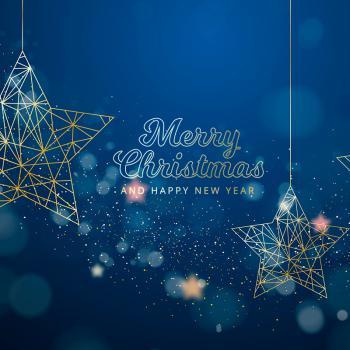 عکس پروفایل کریسمس ستاره ای آبی طلایی زیبا
