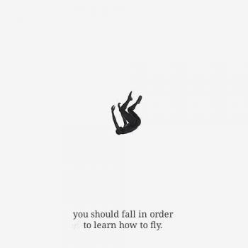 عکس پروفایل انگلیسی تو باید سقوط کنی تا یاد بگیری چطوری پرواز کنی