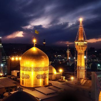عکس پروفایل حرم امام رضا در شب نورانی