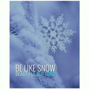 عکس پروفایل مثل برف باش زیبا اما سرد