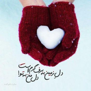 عکس پروفایل دل زمین به برف گرم است دل من به تو
