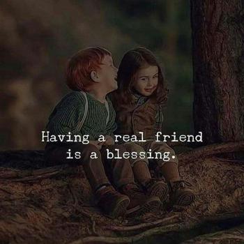 عکس پروفایل انگلیسی داشتن یه دوست واقعی یه نعمته